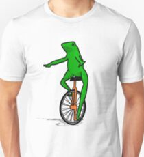 Dat Boi Unicycle Frog T-Shirt Slim Fit T-Shirt