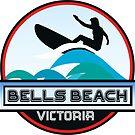 Surf Surfing BELLS BEACH VICTORIA AUSTRALIA Surf Surfer Surfboard Waves Ocean Beach Vacation Stickers by MyHandmadeSigns