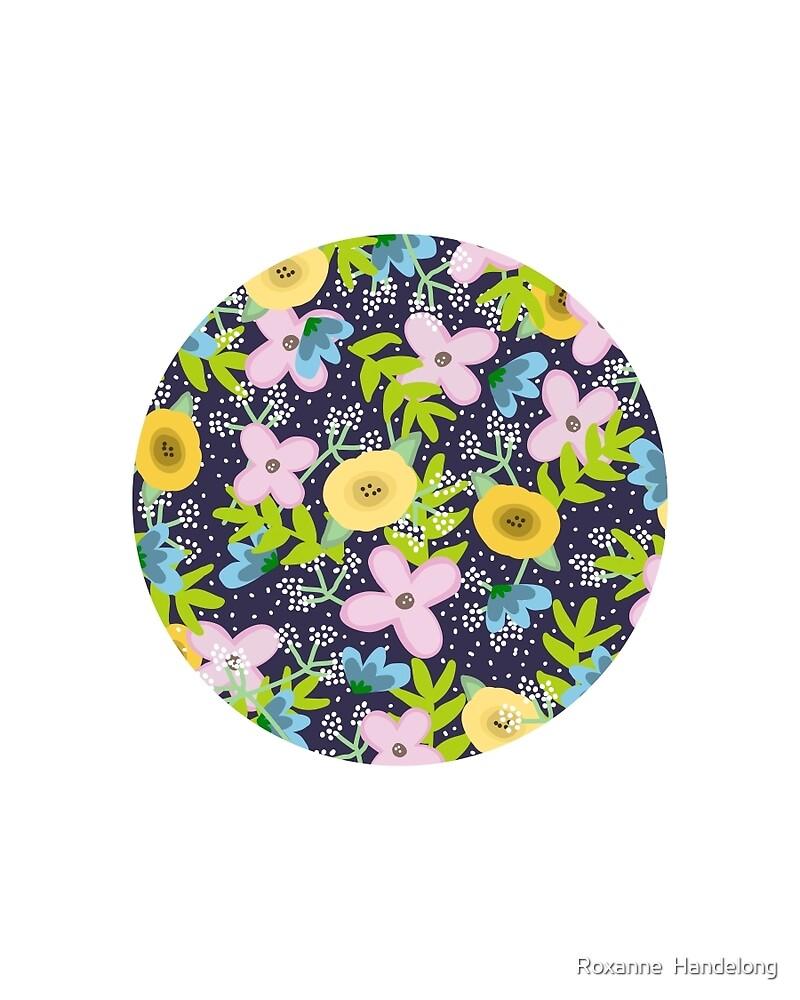 Floral Circle  by Roxanne  Handelong