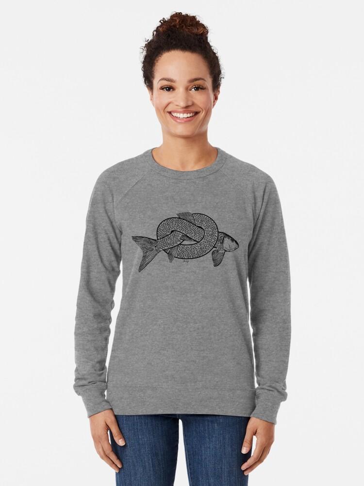 Alternate view of knot fish disego Lightweight Sweatshirt
