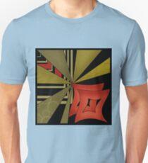 Beautiful modern geometrical ornamental red green black pattern texture Unisex T-Shirt