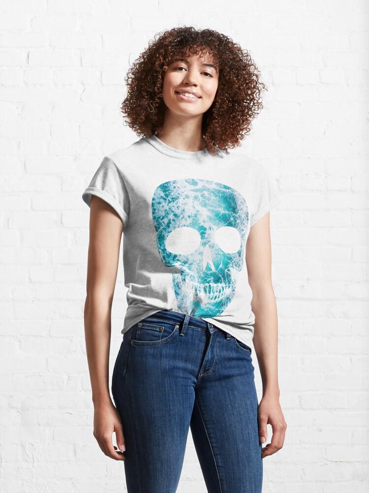 Alternate view of Salty skull design Classic T-Shirt