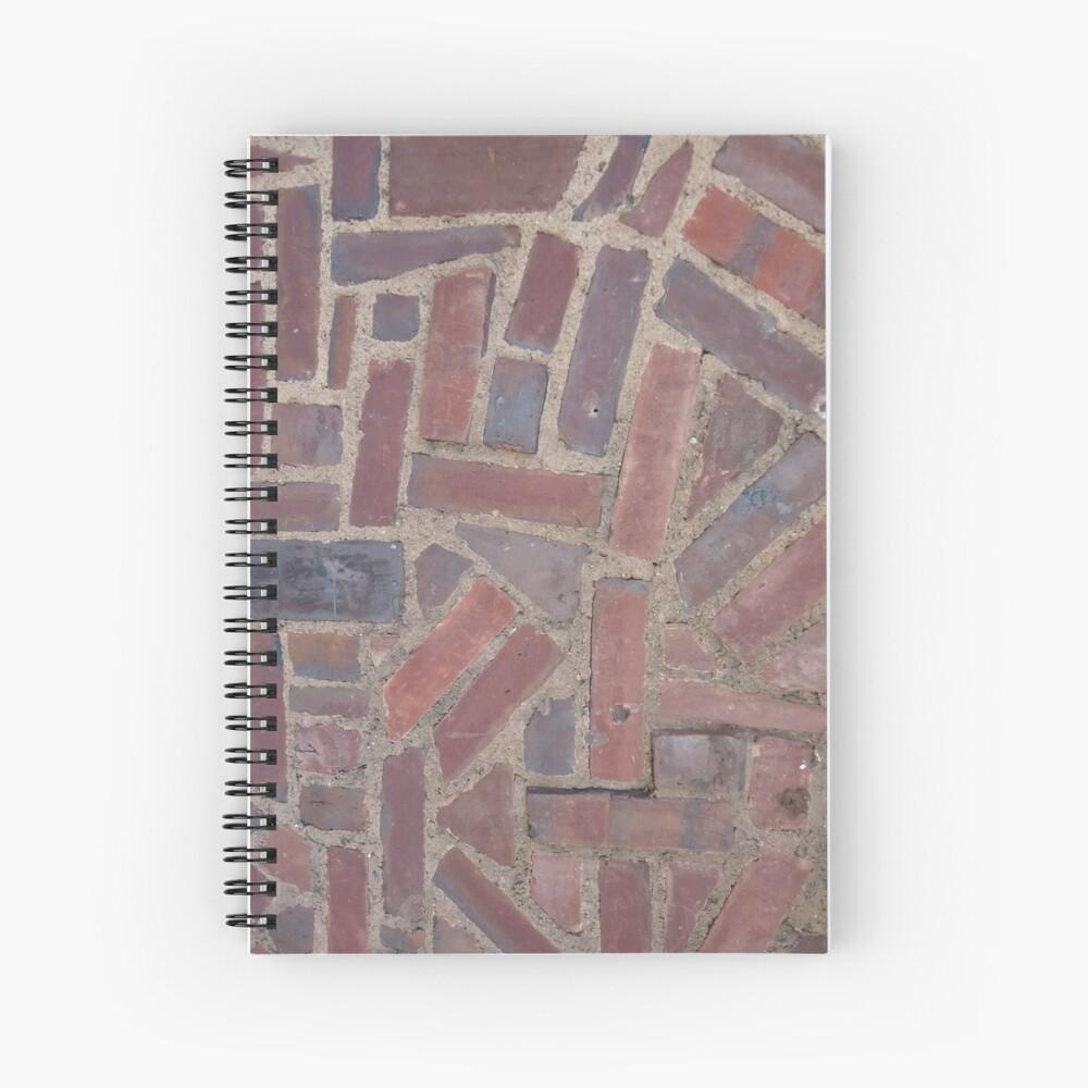 Surfaces, brick, wall, unstandard, pattern Spiral Notebook