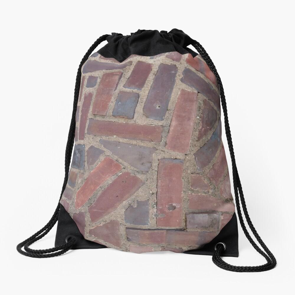 Surfaces, brick, wall, unstandard, pattern Drawstring Bag