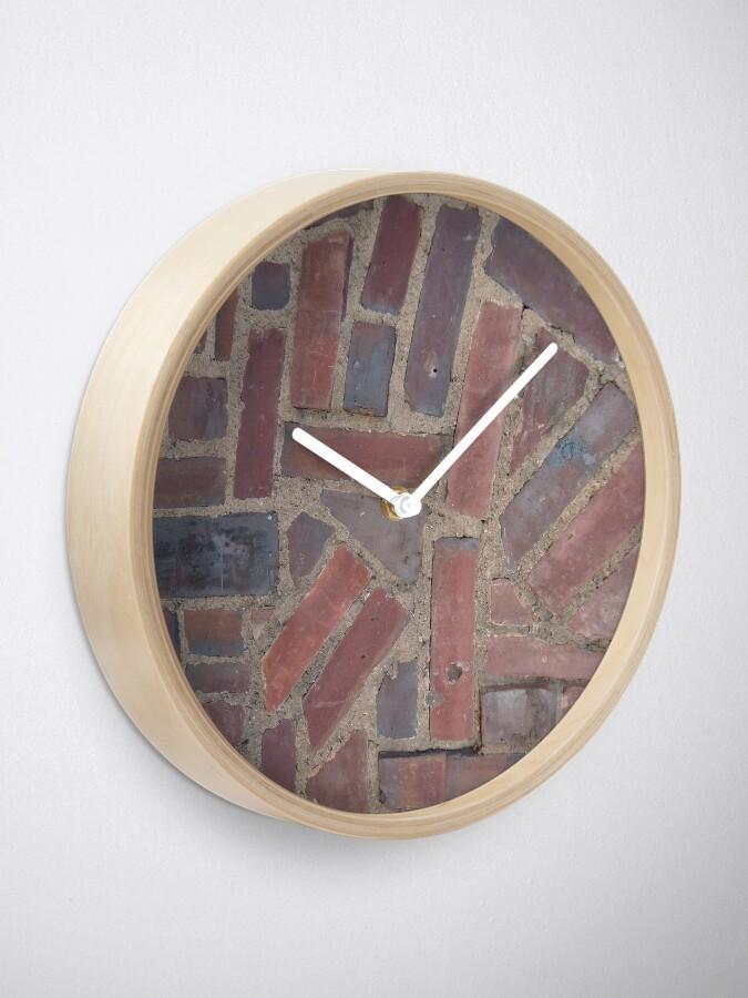 Alternate view of Surfaces, brick, wall, unstandard, pattern Clock