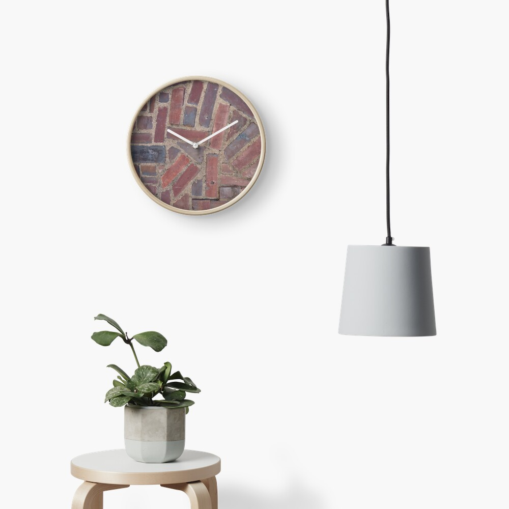 Surfaces, brick, wall, unstandard, pattern Clock