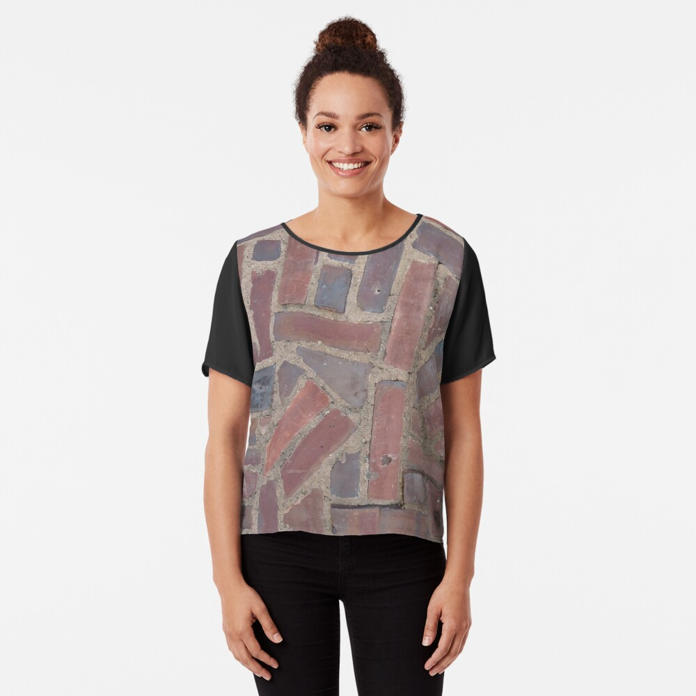 Surfaces, brick, wall, unstandard, pattern Chiffon Top