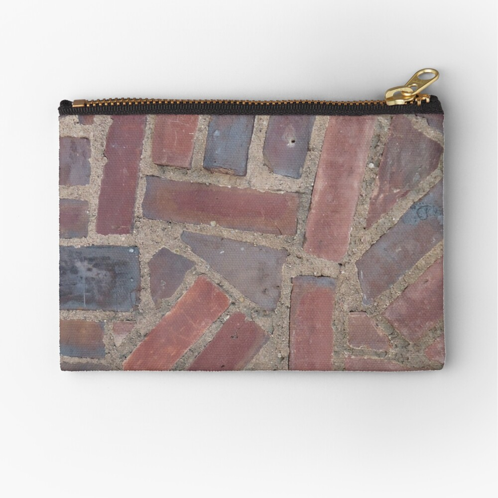 Surfaces, brick, wall, unstandard, pattern Zipper Pouch