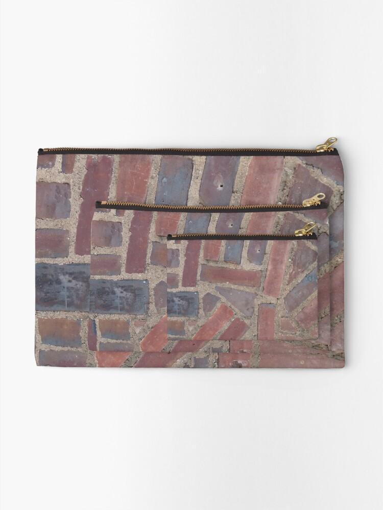 Alternate view of Surfaces, brick, wall, unstandard, pattern Zipper Pouch
