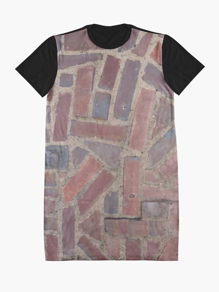 Alternate view of Surfaces, brick, wall, unstandard, pattern Graphic T-Shirt Dress