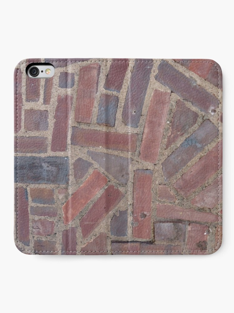 Alternate view of Surfaces, brick, wall, unstandard, pattern iPhone Wallet