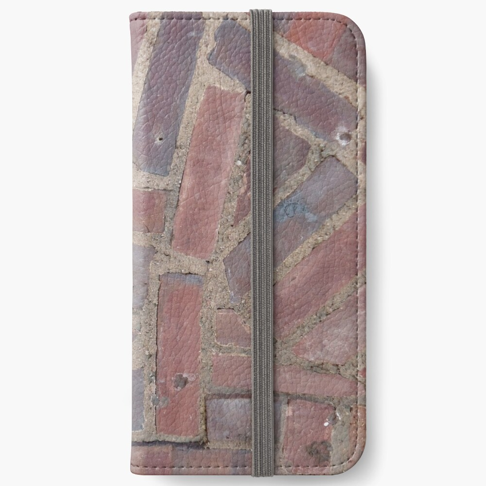 Surfaces, brick, wall, unstandard, pattern iPhone Wallet