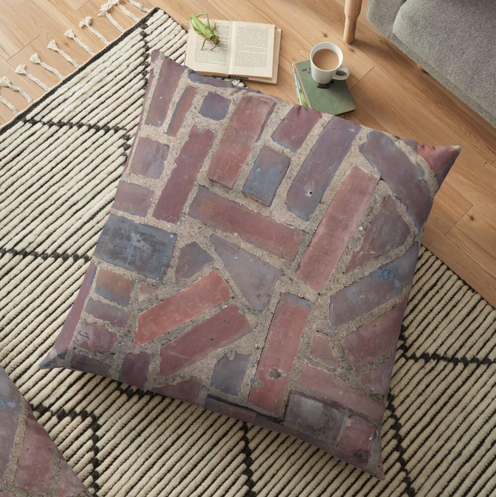 Surfaces, brick, wall, unstandard, pattern Floor Pillow