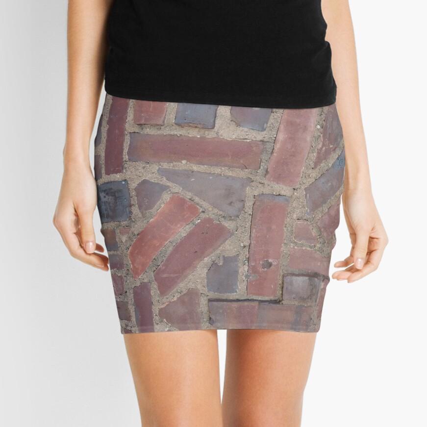 Surfaces, brick, wall, unstandard, pattern Mini Skirt