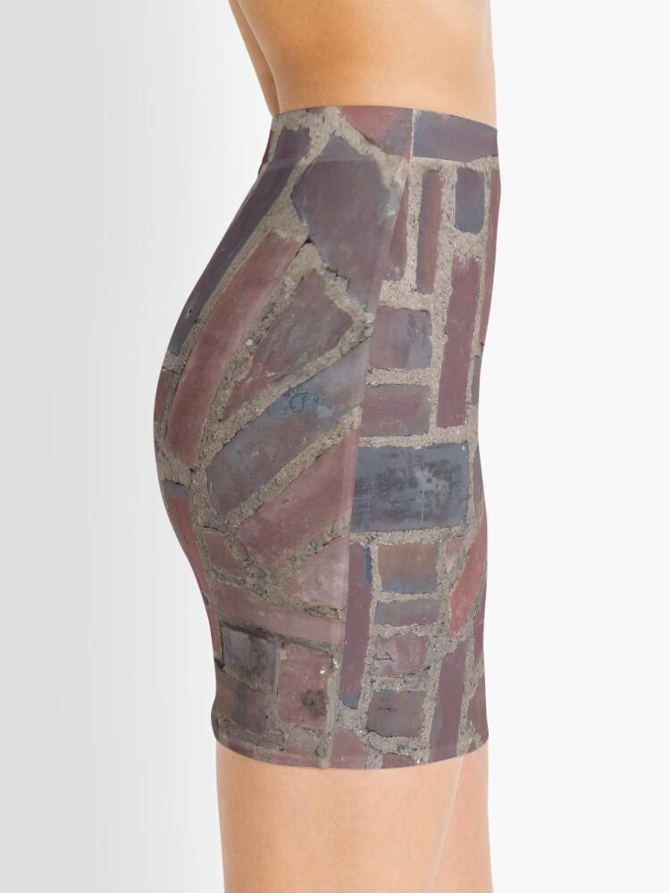 Alternate view of Surfaces, brick, wall, unstandard, pattern Mini Skirt