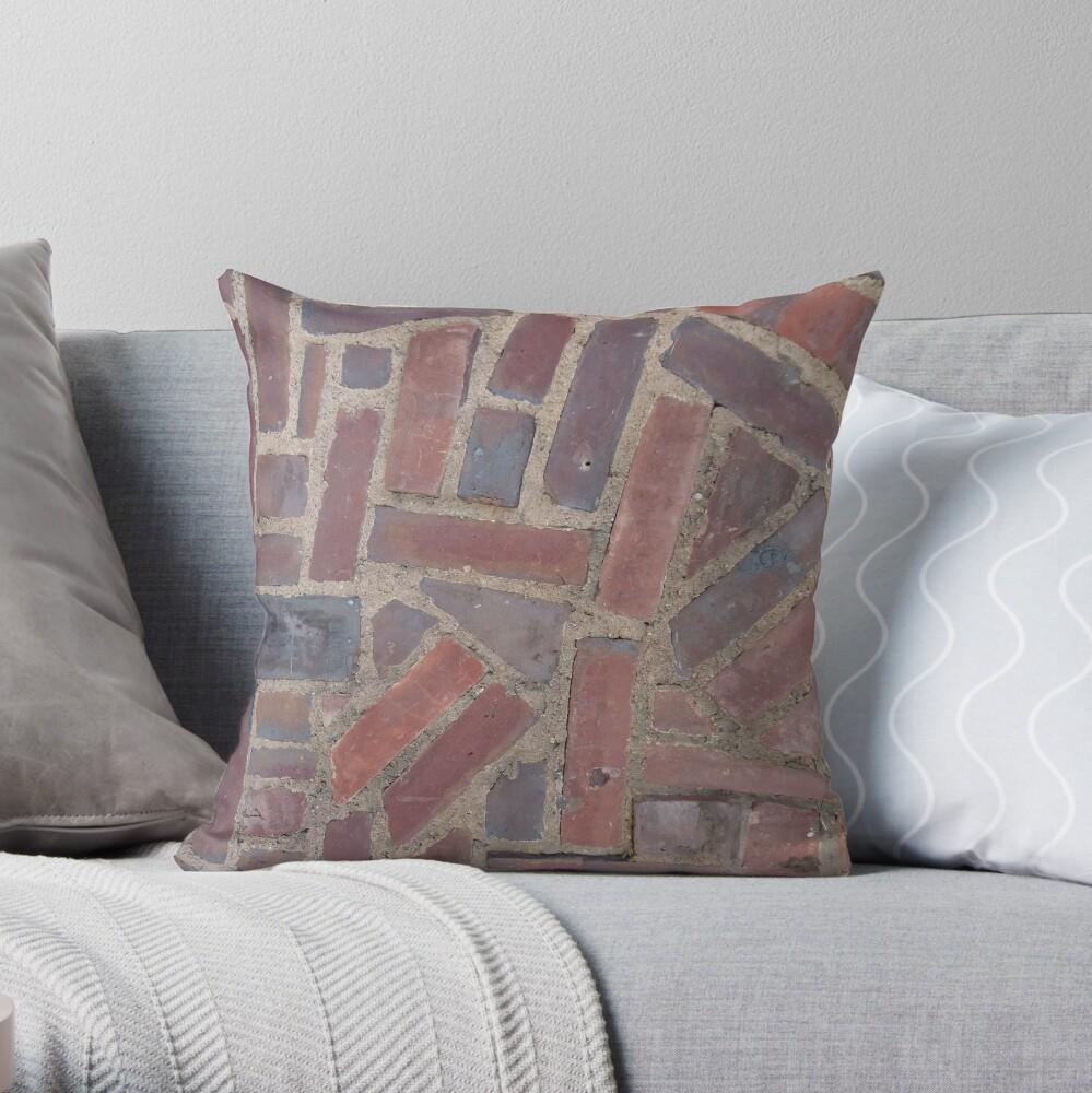 Surfaces, brick, wall, unstandard, pattern Throw Pillow