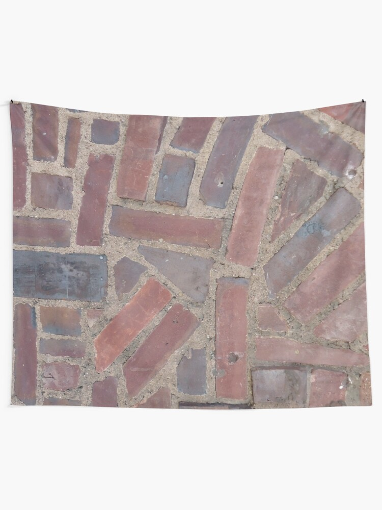 Alternate view of Surfaces, brick, wall, unstandard, pattern Tapestry