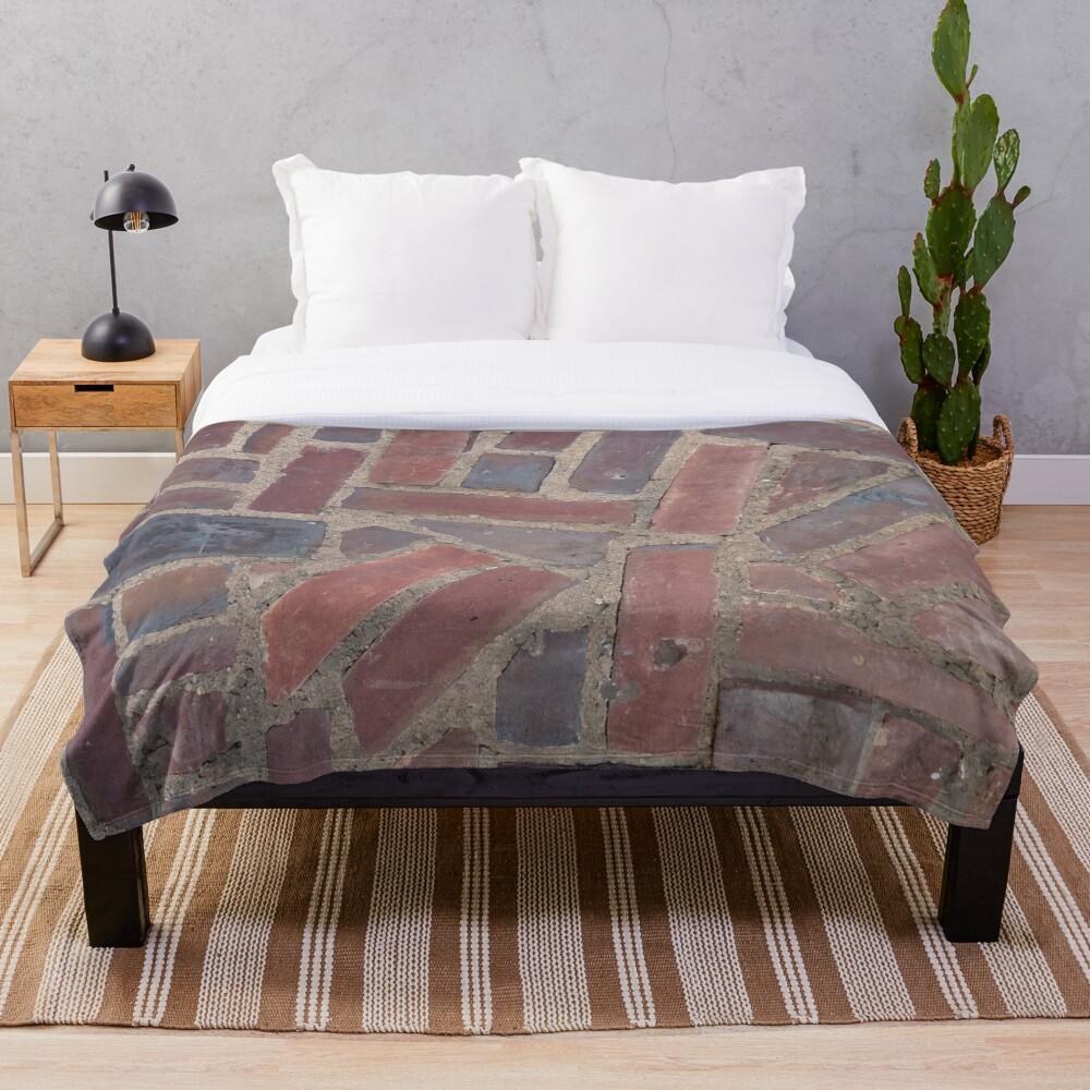 Surfaces, brick, wall, unstandard, pattern Throw Blanket