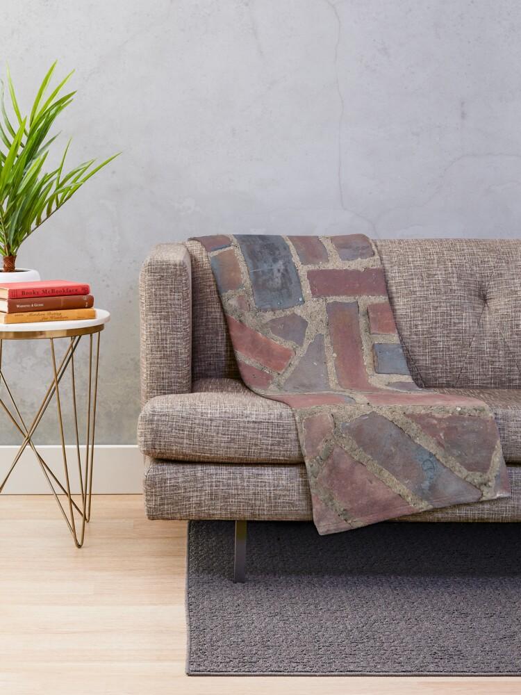 Alternate view of Surfaces, brick, wall, unstandard, pattern Throw Blanket
