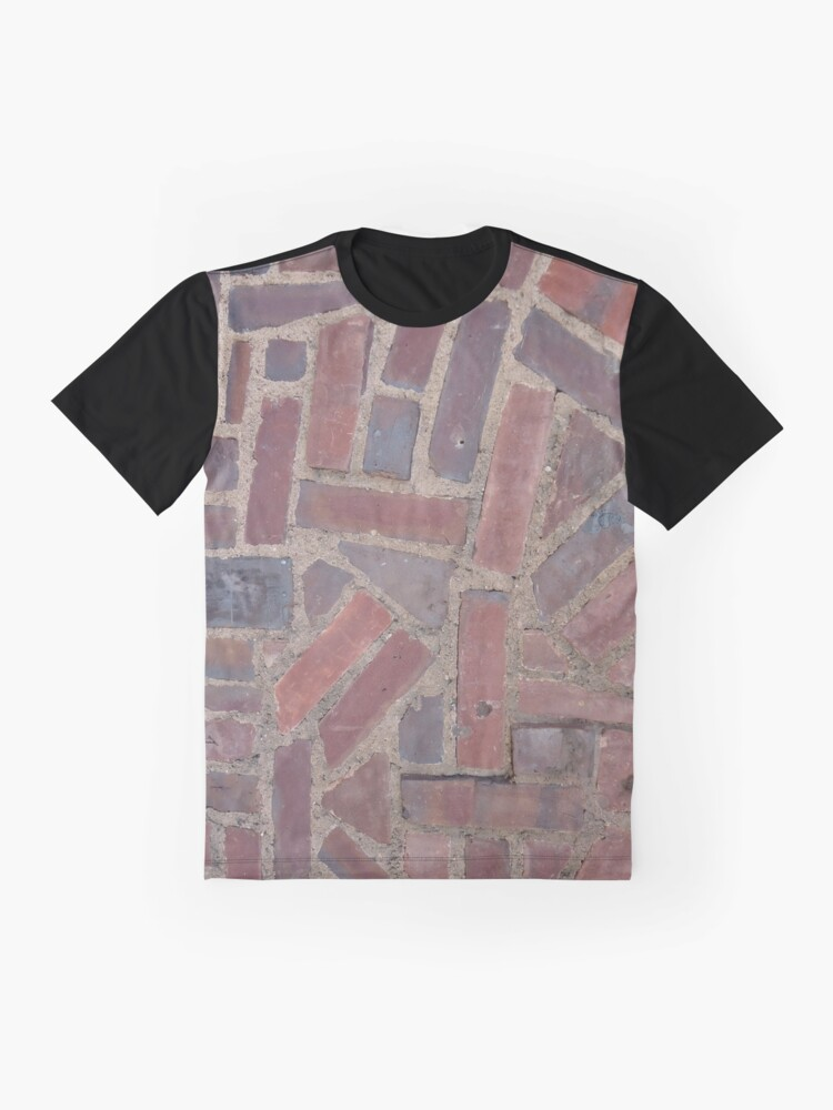 Alternate view of Surfaces, brick, wall, unstandard, pattern Graphic T-Shirt
