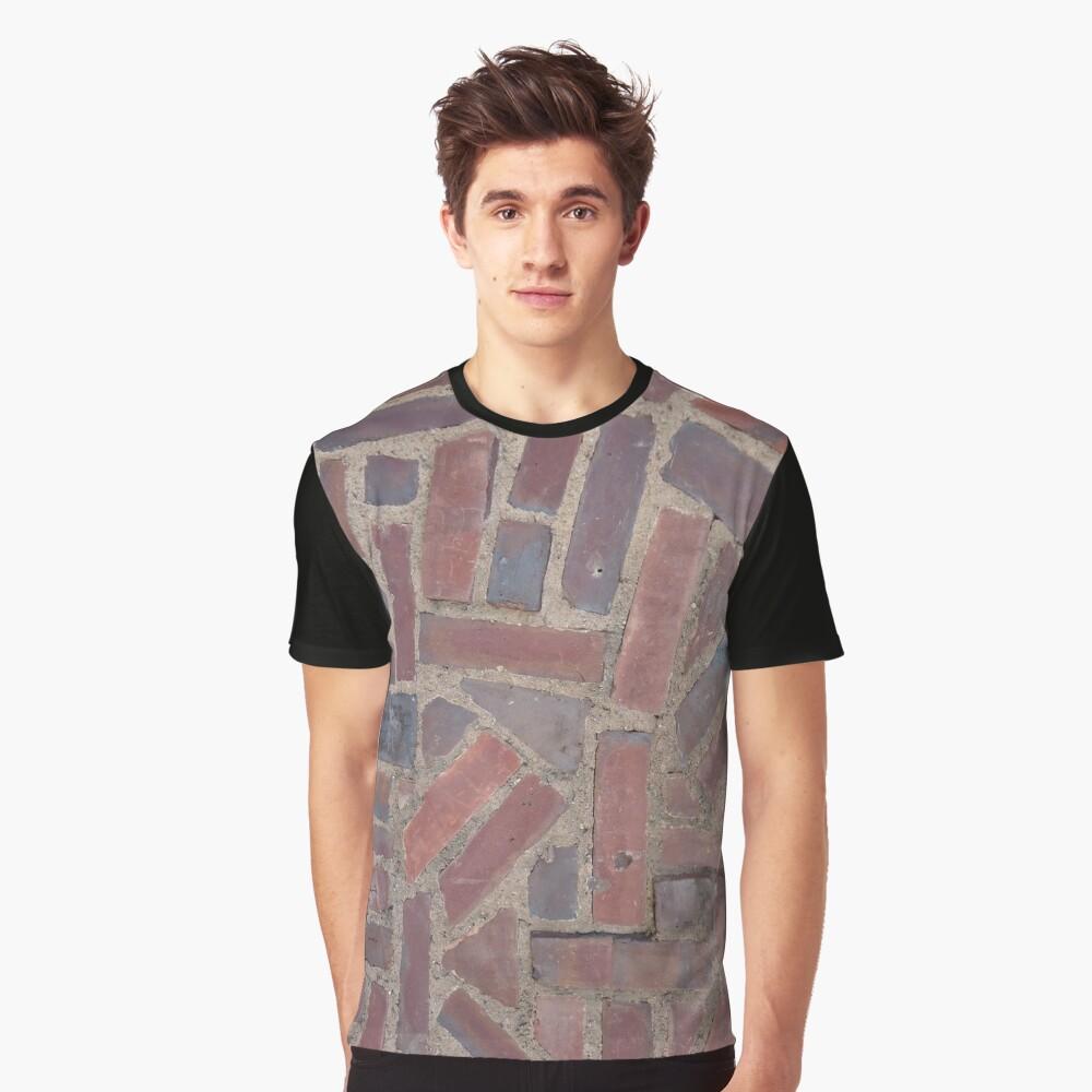 Surfaces, brick, wall, unstandard, pattern Graphic T-Shirt