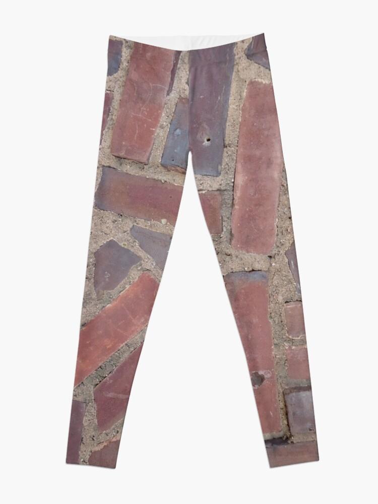 Alternate view of Surfaces, brick, wall, unstandard, pattern Leggings