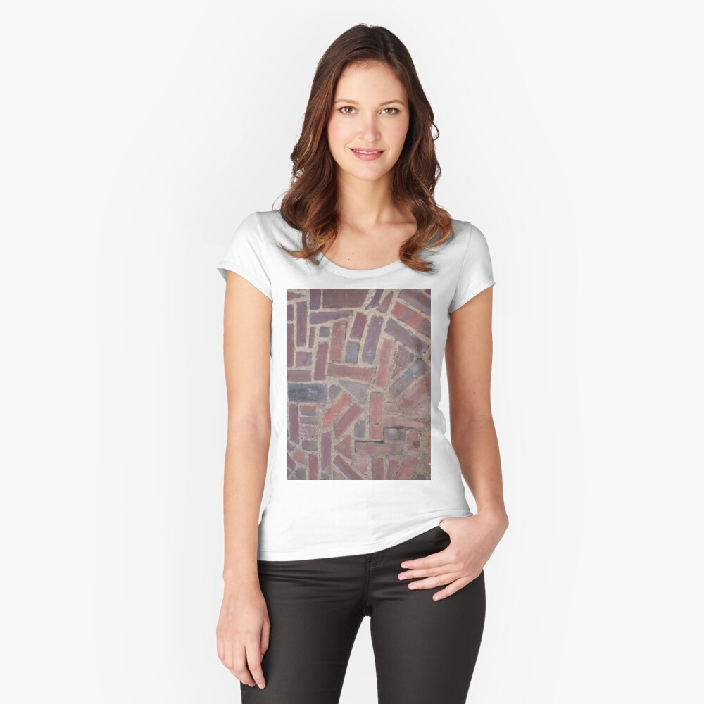 Surfaces, brick, wall, unstandard, pattern Fitted Scoop T-Shirt