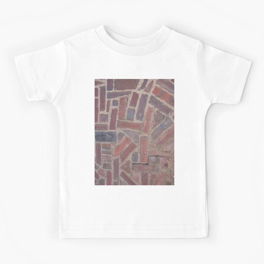 Surfaces, brick, wall, unstandard, pattern Kids T-Shirt