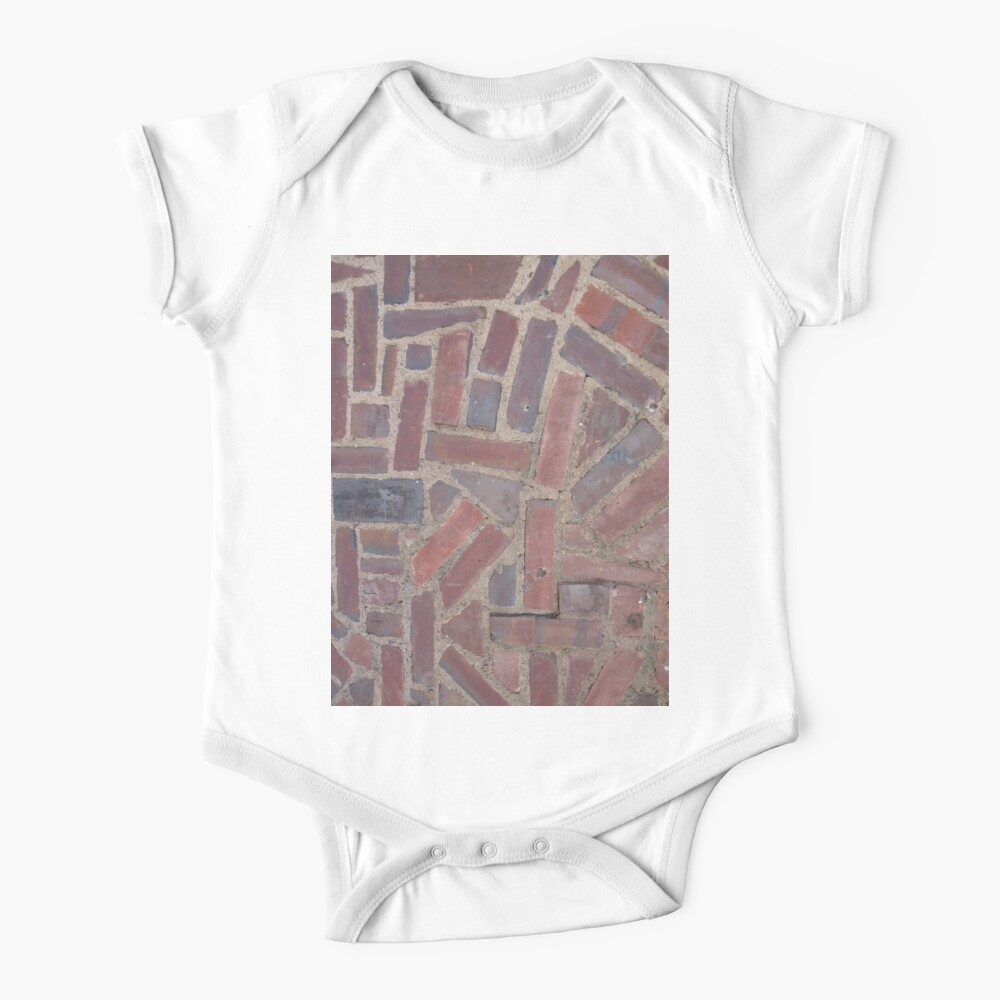 Surfaces, brick, wall, unstandard, pattern Baby One-Piece