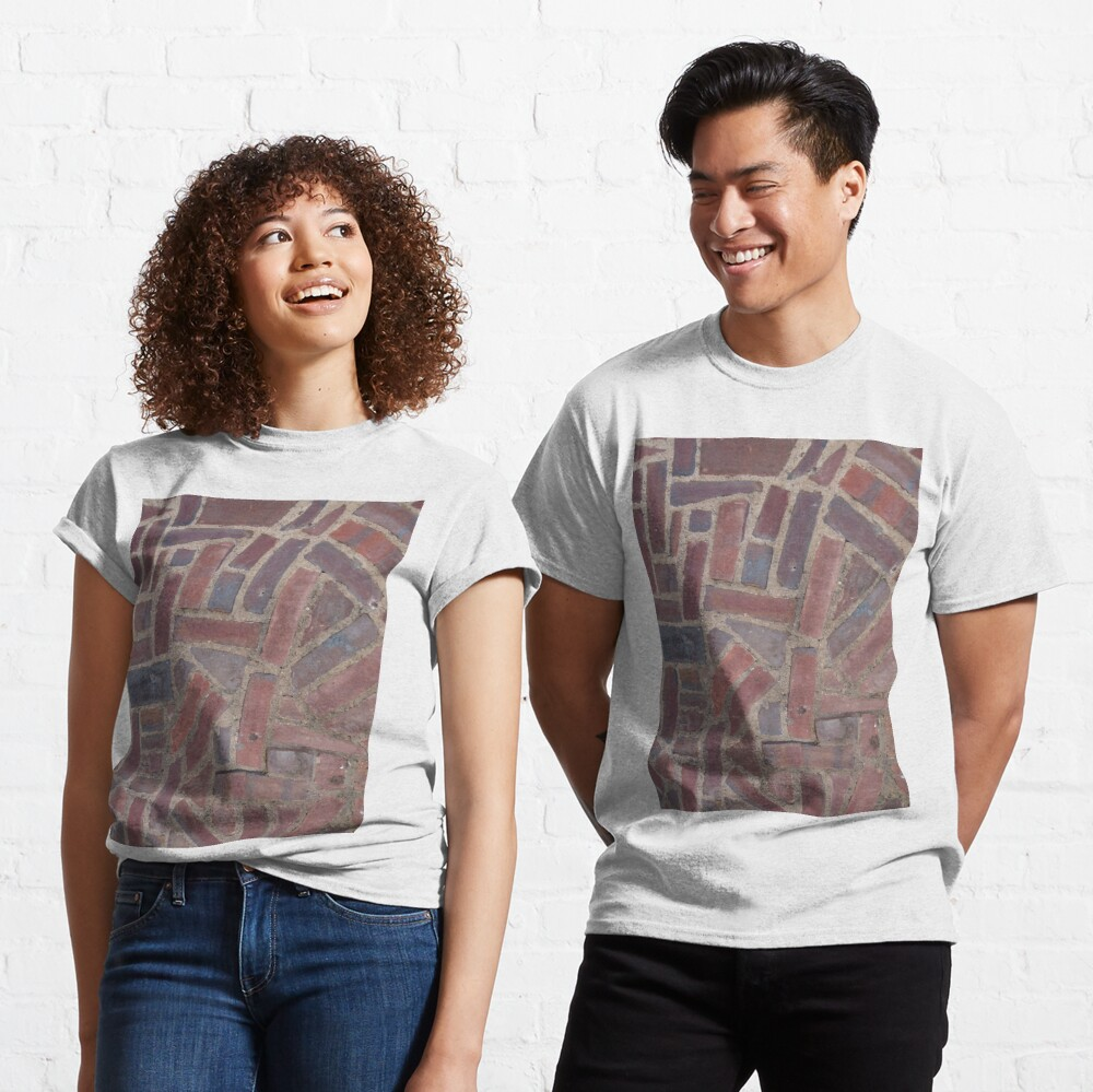 Surfaces, brick, wall, unstandard, pattern Classic T-Shirt