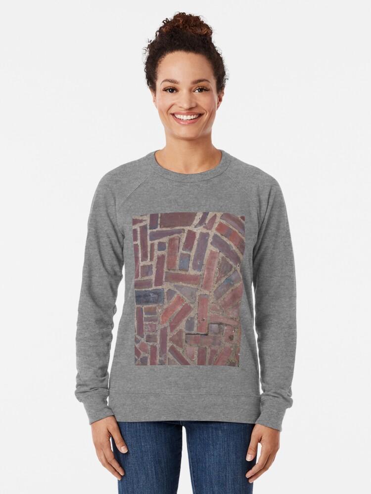 Alternate view of Surfaces, brick, wall, unstandard, pattern Lightweight Sweatshirt