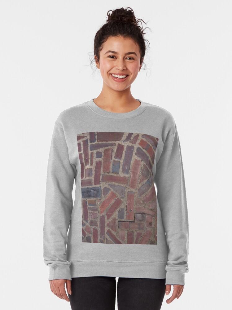 Alternate view of Surfaces, brick, wall, unstandard, pattern Pullover Sweatshirt