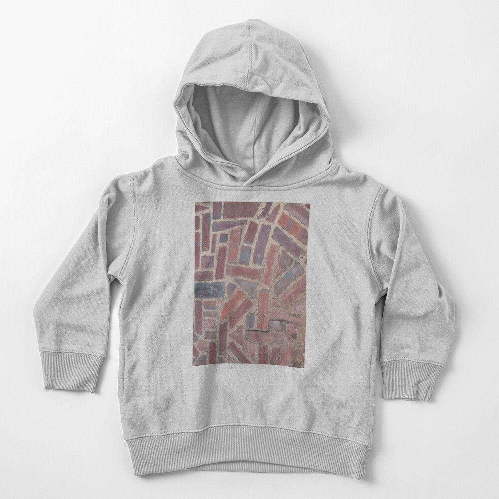 Surfaces, brick, wall, unstandard, pattern Toddler Pullover Hoodie
