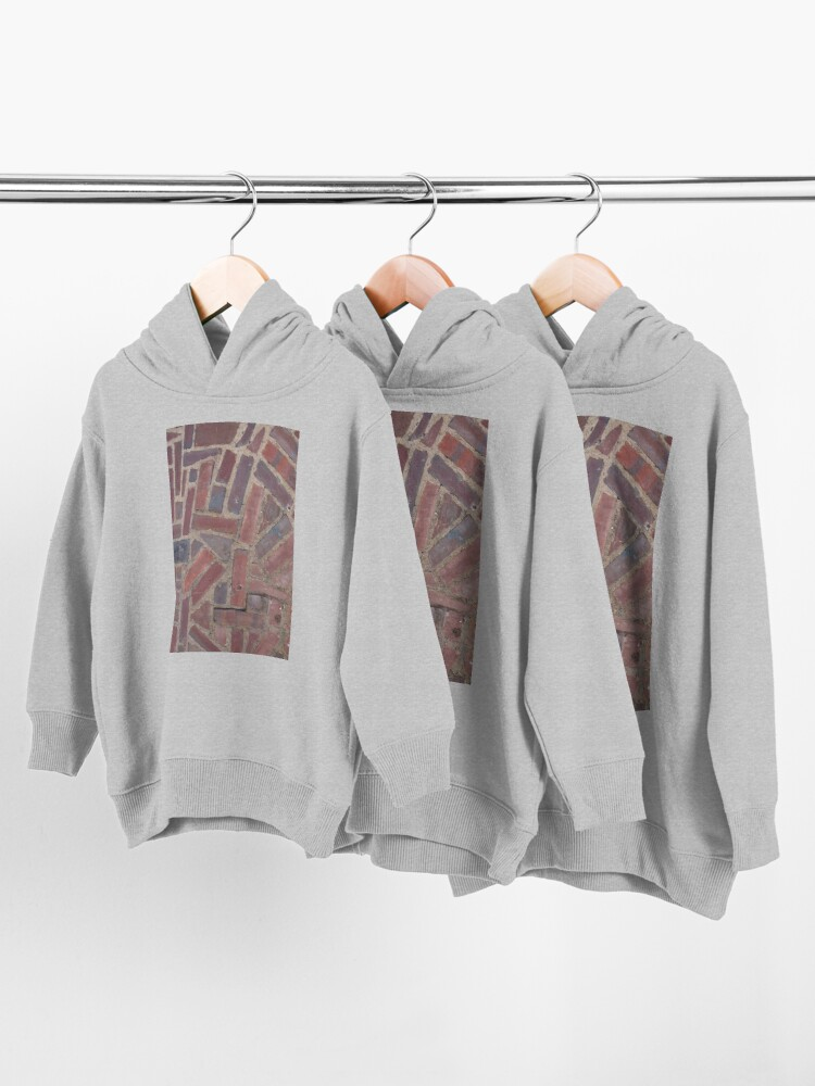 Alternate view of Surfaces, brick, wall, unstandard, pattern Toddler Pullover Hoodie