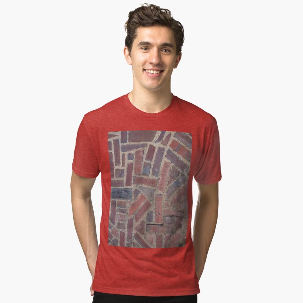 Surfaces, brick, wall, unstandard, pattern Tri-blend T-Shirt