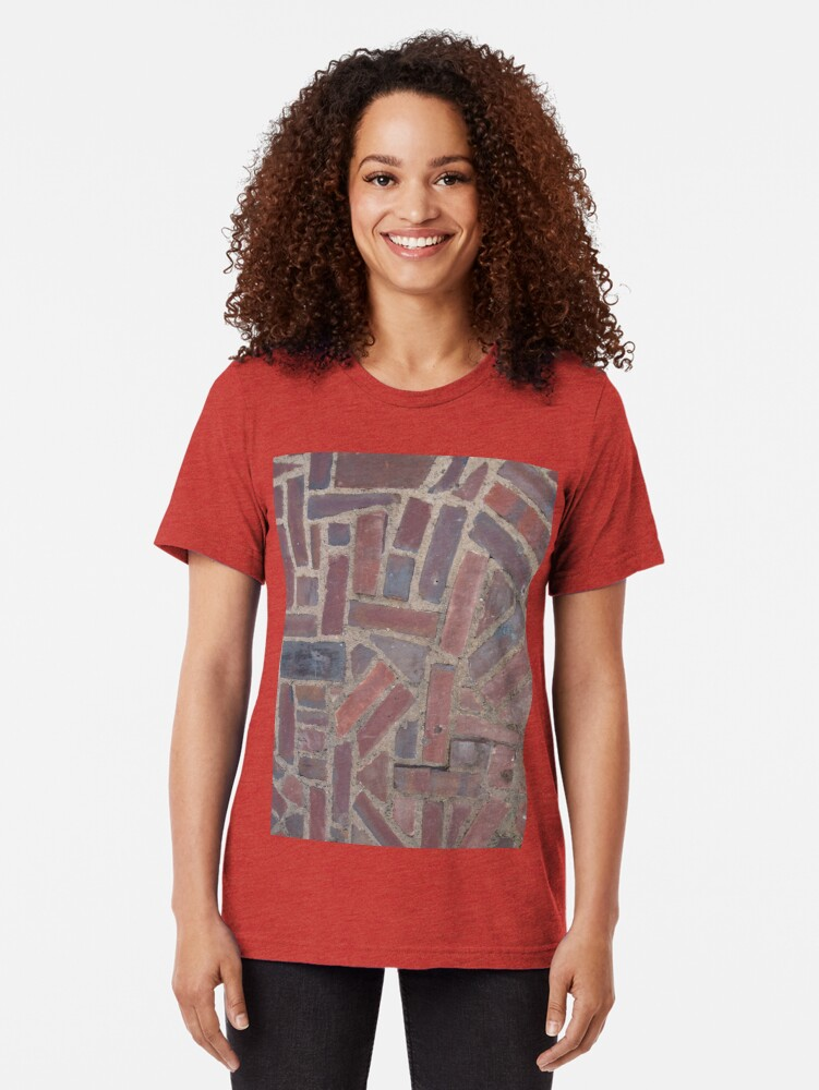 Alternate view of Surfaces, brick, wall, unstandard, pattern Tri-blend T-Shirt
