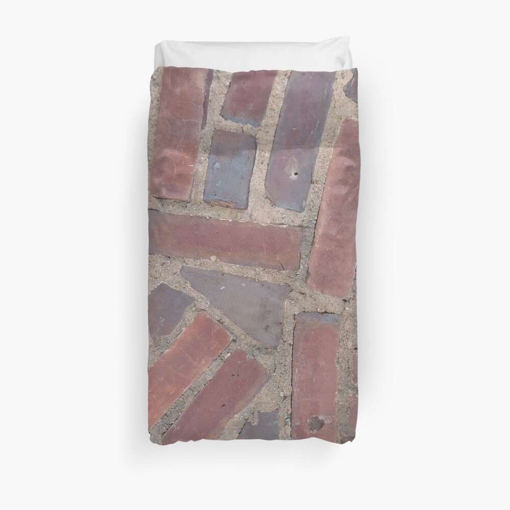 Surfaces, brick, wall, unstandard, pattern Duvet Cover
