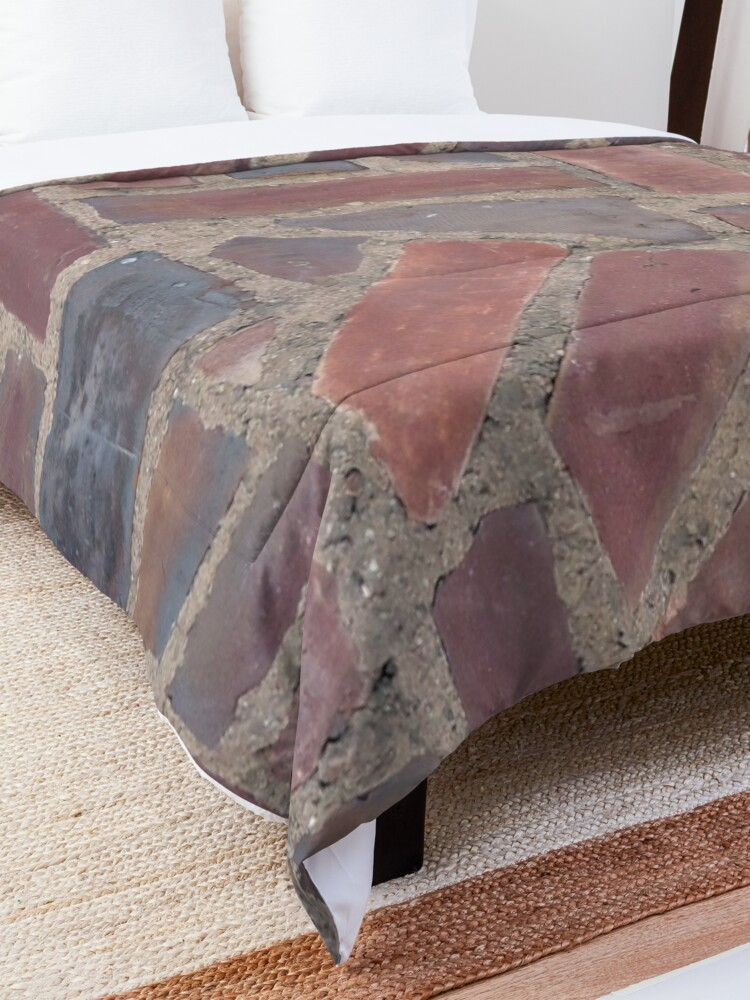 Alternate view of Surfaces, brick, wall, unstandard, pattern Comforter