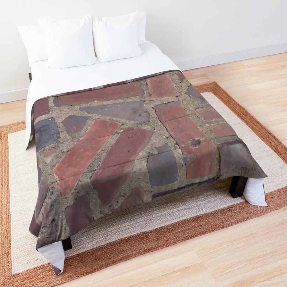 Surfaces, brick, wall, unstandard, pattern Comforter