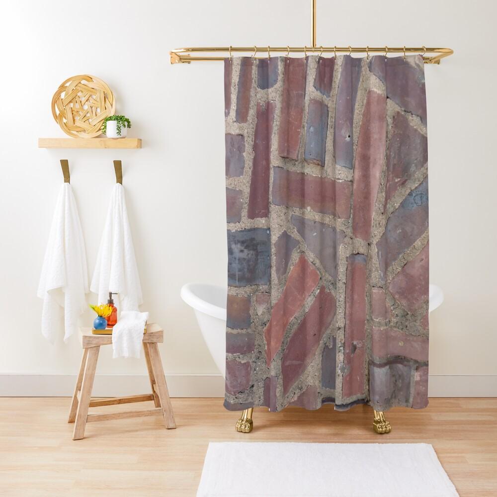Surfaces, brick, wall, unstandard, pattern Shower Curtain