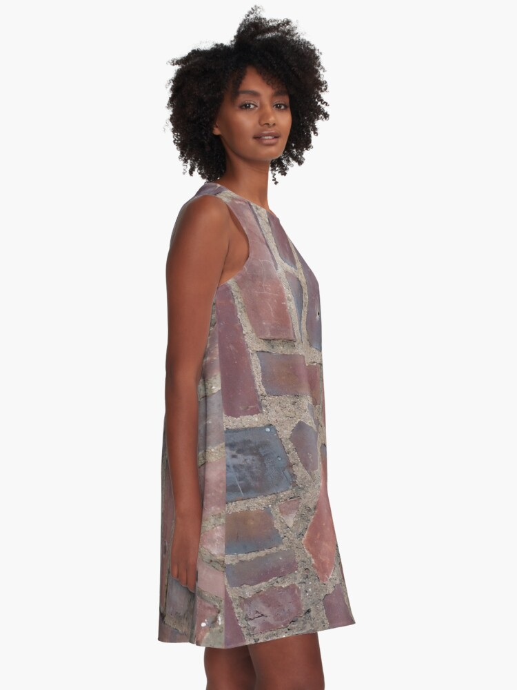 Alternate view of Surfaces, brick, wall, unstandard, pattern A-Line Dress