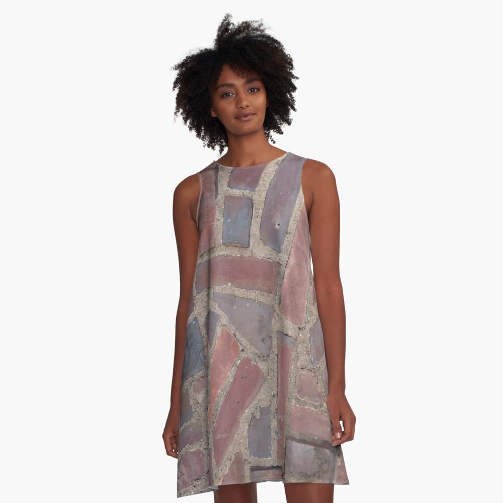 Surfaces, brick, wall, unstandard, pattern A-Line Dress
