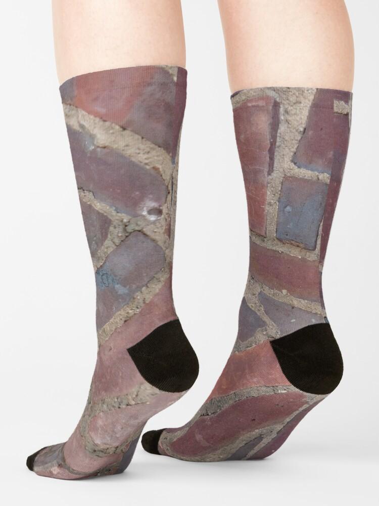 Alternate view of Surfaces, brick, wall, unstandard, pattern Socks