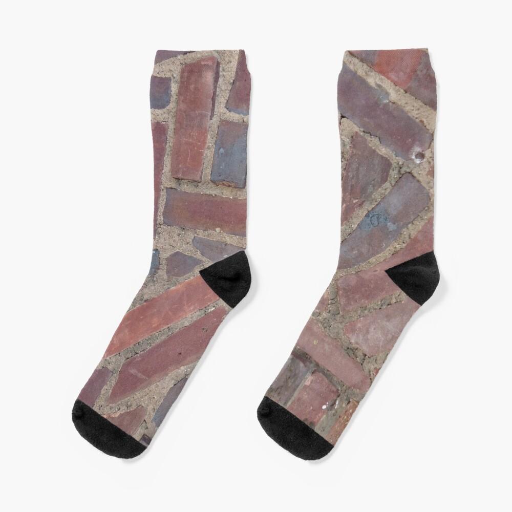 Surfaces, brick, wall, unstandard, pattern Socks