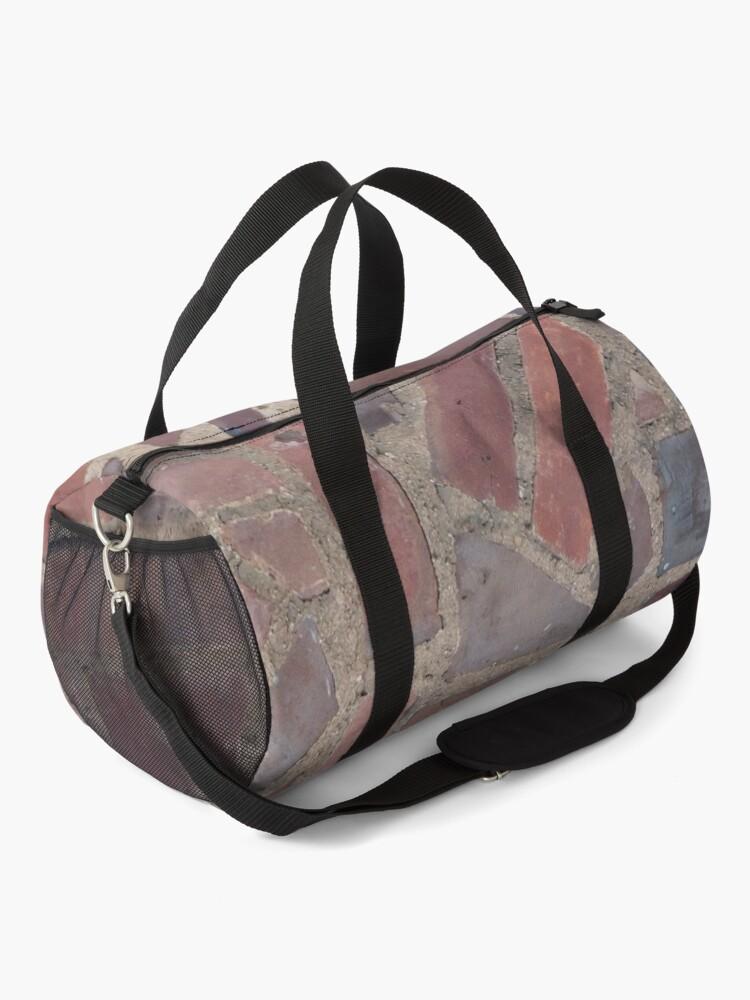 Alternate view of Surfaces, brick, wall, unstandard, pattern Duffle Bag