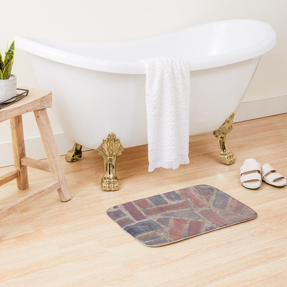 Surfaces, brick, wall, unstandard, pattern Bath Mat