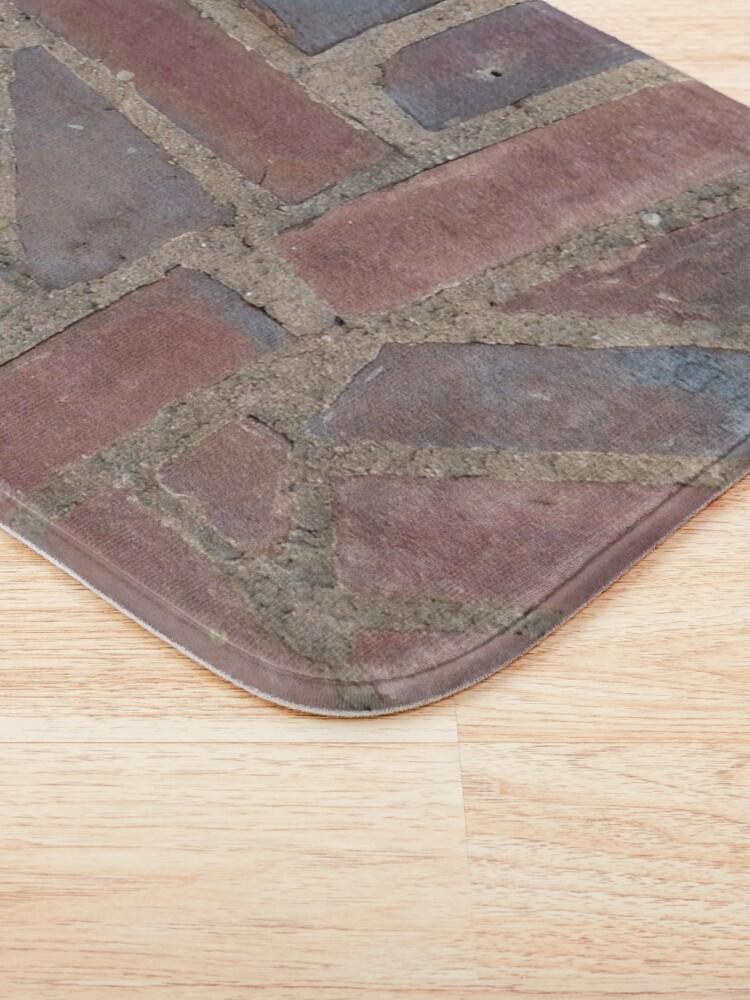 Alternate view of Surfaces, brick, wall, unstandard, pattern Bath Mat