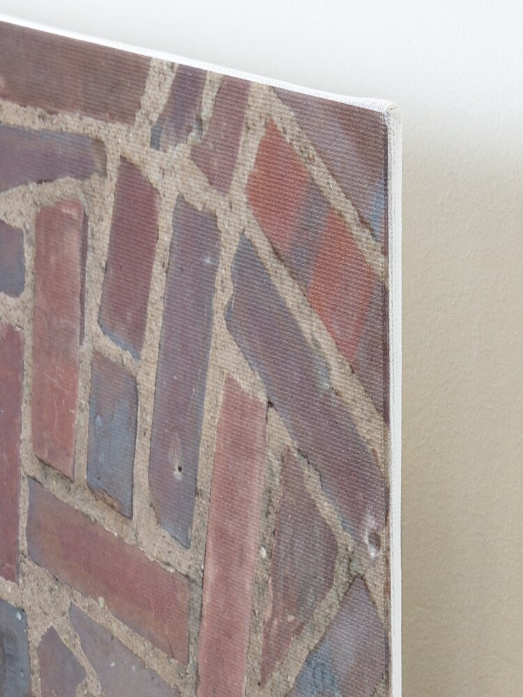 Alternate view of Surfaces, brick, wall, unstandard, pattern Mounted Print