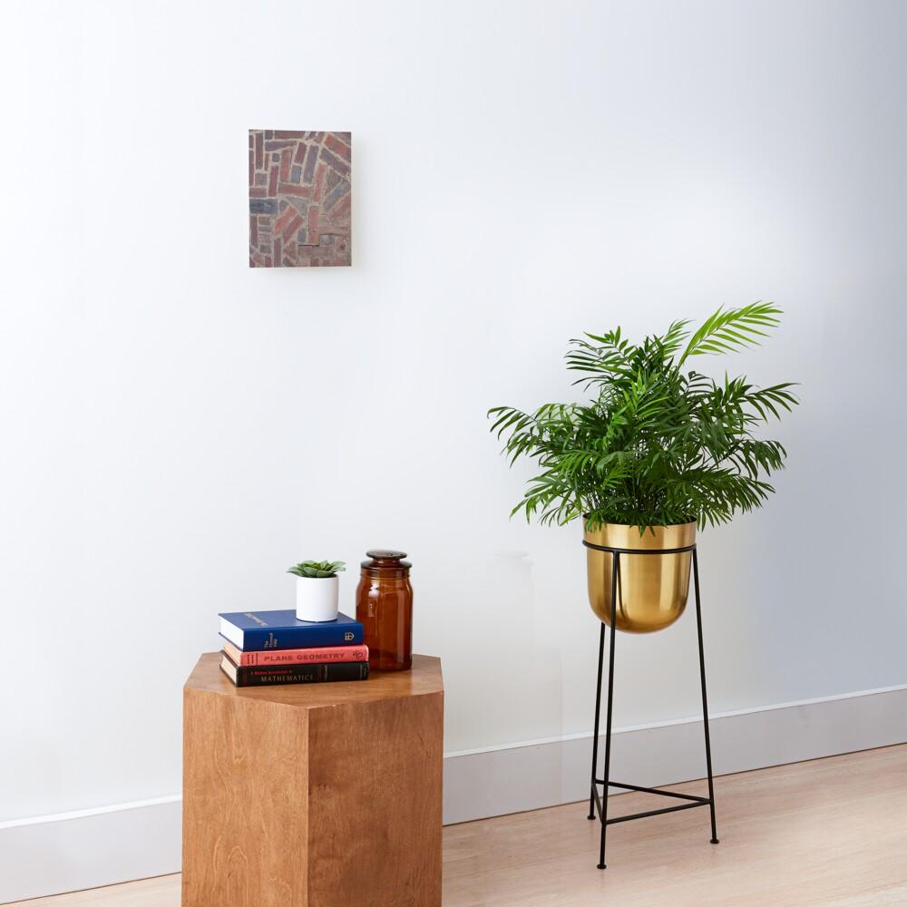 Surfaces, brick, wall, unstandard, pattern Mounted Print
