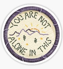 Mumford & Sons Timshel Embroidery Style Patch Sticker